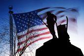 Minuteman statue in Concord, MA
