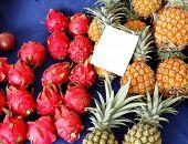 Venda de frutas no mercado