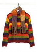 Rayas de colores más dulce y bufanda