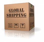 cardboard box global shipping