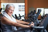 Smiling Senior Woman In Gym