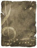 Grunge Musical Background.