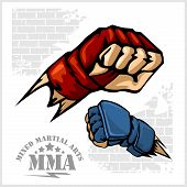 ������, ������: Fist punch MMA mixed martial arts emblem badges