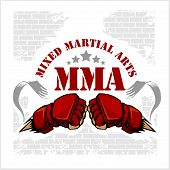 ������, ������: MMA mixed martial arts emblem badges
