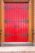 Red Church Door