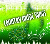 Постер, плакат: Country Music Songs Means Sound Track And Audio