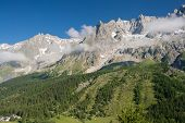 Mont Blanc Massif From Ferret Valley
