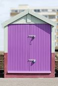 Beach Hut On Hove Seafront. UK