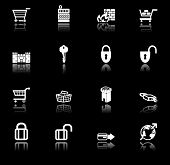 Security And E-Commerce Icon Set Series
