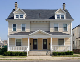 pic of duplex  - Typical duplex house in Midwest that - JPG