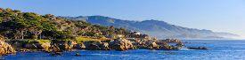 picture of mile  - Beautiful 17 mile with blue sky coastline - JPG