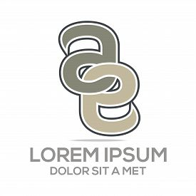 pic of emblem  - abstract logo concept design letter e alphabet a emblem - JPG