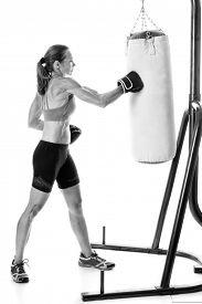 foto of heavy bag  - Heavy bag exercise - JPG