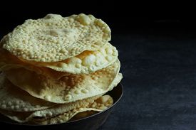 pic of urad  - Pappadam Indian cracker snack made with urad daal - JPG