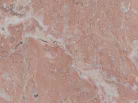 picture of slab  - saturated pink marble with beautiful light and dark streaks in the large slab - JPG