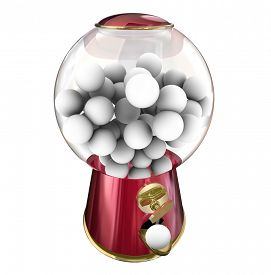 picture of gumball machine  - Gumball machine or candy dispenser giving you a sugary treat or snack - JPG