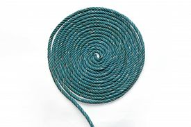 pic of nylons  - Circle Roll texture of old green nylon rope - JPG