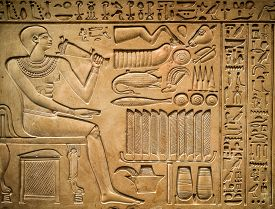 picture of hieroglyphic  - Ancient egyptian hieroglyph depicting a pharaoh - JPG