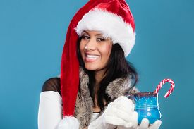foto of mug shot  - Christmas time concept - JPG