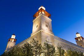 foto of amman  - King Hussein Bin Talal mosque in Amman  - JPG
