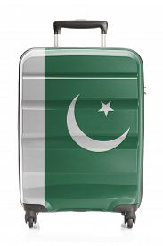 picture of pakistani flag  - Suitcase painted into national flag series  - JPG