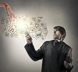 picture of priest  - Technological priest - JPG