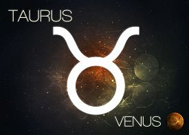 picture of zodiac sign  - Zodiac sign - Taurus. Elements of this image furnished by NASA. ** Note: Visible grain at 100%, best at smaller sizes - JPG