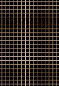 Golden grid on black background