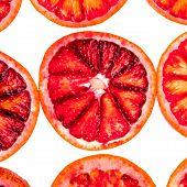 few sliced blood orange