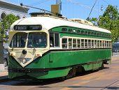 Historic San Francisco Street Car (green) poster