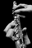 Flute In Hands - Music Concept Background