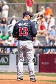 PORT ST. LUCIE, FLORIDA - MARCH 23: Atlanta Braves pitcher Billy Wagner gets set during a spring tra