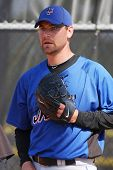PORT ST. LUCIE, FLORIDA - MARCH 24: New York Mets pitcher Mike Pelfrey during spring training workou