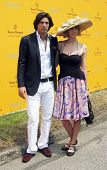NEW YORK - JUNE 26: Argentine polo player Nacho Figueras and his wife attend the Veuve Clicquot Polo