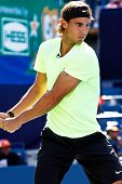 FLUSHING, NY - AUGUST 28: Tennis pro Rafael Nadal of Spain attends Arthur Ashe Kids' Day at the Bill
