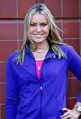 FLUSHING, NY - AUGUST 28: Olympic gold medalist Lindsey Vonn attends Arthur Ashe Kids' Day at the Bi