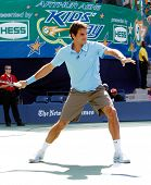 FLUSHING, NY - AUGUST 28: Tennis pro Roger Federer of Switzerland attends Arthur Ashe Kids' Day at t