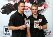 NEW YORK - SEPTEMBER 8: Jonathan Toews (L) and Patrick Kane (R) of the Chicago Blackhawks, attend th