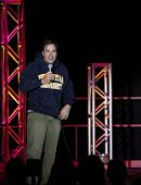 UNIONDALE, NY - SEPTEMBER 25: Comedian Jimmy Fallon performs at the 75th Anniversary Celebration at