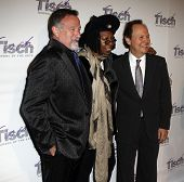 NEW YORK - Dezember 6: Whoopi Goldberg, Komiker Robin Williams und Billy Crystal Face-o teilnehmen