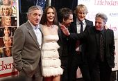NEW YORK - DECEMBER 15: Dustin Hoffman, Robert DeNiro, Jessica Alba , Owen Wilson and Ben Stiller attend world premiere of