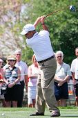 ORLANDO, FL - MARCH 23: Rocco Mediate tees off during a practice round at the Arnold Palmer Invitati