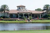 ORLANDO, FL - MARCH 23: The club house at the Bay Hill Club and Lodge at the Arnold Palmer Invitatio