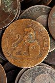 coin peseta real old spain republic 1937 currency and cents centimos