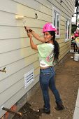 LOS ANGELES - MAY 14:  Carla Ortiz at the Habitat for Humanity Women's Empowerment Build at Carl Str