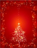Tarjeta de Navidad Roja, Vector