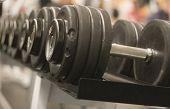 picture of weight-lifting  - big weights - JPG