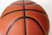 basketball isolated closeup
