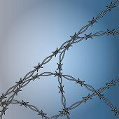 barbed wire fencing illustration