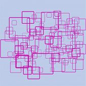 funky pink squares overlapping